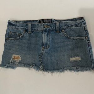Victoria's Secret PINK denim mini cut off skirt